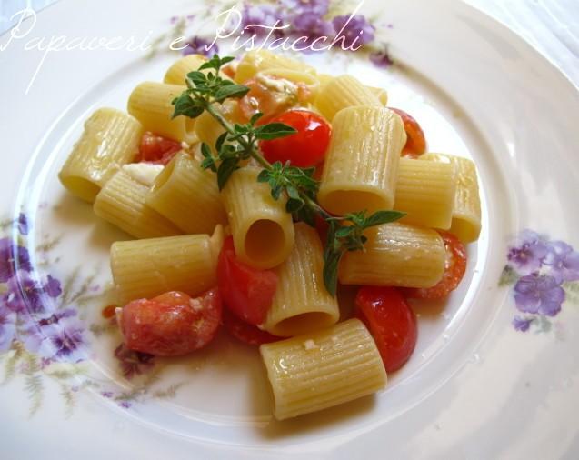 Mezze Maniche Pachino Mozzarella e Maggiorana