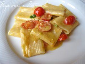 Mezze Maniche Pachino e Pistacchi
