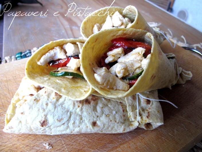 Tortillas Verdure e Tacchino