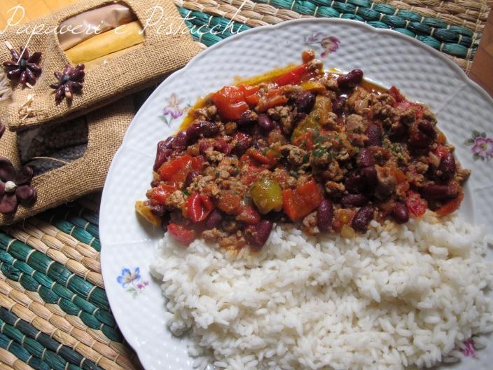 Chili con Carne e Riso Bianco